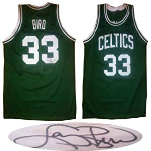 Larry Bird Signed Boston Celtics Basketball Autographed Jersey Bird Hologram by Powers Collectibles