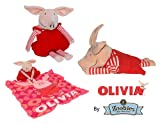 Olivia Zoobies 3-in-1 Pet: Stuffed Animal, Pillow, & Blanket