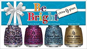 China Glaze 4 Piece Mini Holiday Set, Be Bright