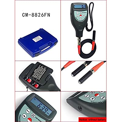 TR-CM-8826FN Digital Car Coating Paint Thickness Painting Gauge Plating Thick Meter with Magnetic Induction F Eddy Current Probe Tester Instruments 0 ~ 1250 um / 0 ~ 50 mil for Layer