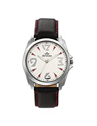 Roycee Mens White Analog Watch 1328SL04