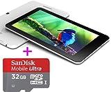 タブレットPC Ployer MOMO7 デュアルコア 7インチ IPS完全視角スクリーン Android4.1.1 1024×600 自然な日本語フォント 日本語入力 Googleプレイ対応 日本語説明書 +SanDisk 超高速 C10 microSDHC 32GB