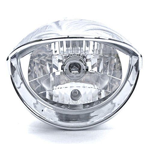 Custom Chrome Headlight Visor Head Light For Any Harley, Honda, Yamaha, Suzuki, Kawasaki, Custom Bike, Cruiser, Choppers