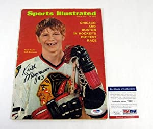 Buy Keith Magnuson Signed Sports Illustrated 4 6 1970 Black Hawks Auto - PSA DNA Certified -... by Sports Memorabilia