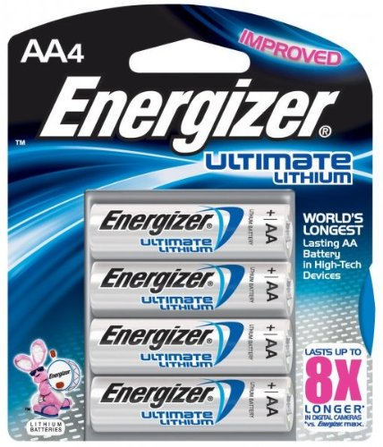 2 Pack Energizer L91BP-4 Ultimate Lithium AA Batteries 4 Batteries per Package