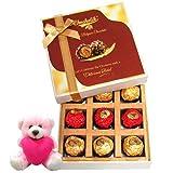 Attractive Chocolates Gift Box With Teddy - Chocholik Belgium Chocolates