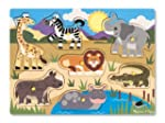 Melissa & Doug Wooden Peg Puzzle Safari