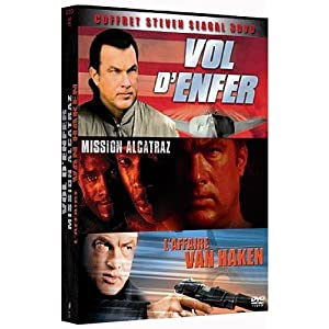 Coffret Steven Seagal 3 DVD - Vol d'enfer + Mission Alcatraz + L'affaire Van Haken