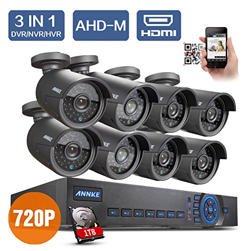 Lowest Prices! Annke New AHD 8CH 720P Security DVR Video Surveillance System 8 Weatherproof 720P Nig...