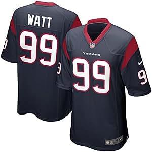 J. J. Watt Houston Texans NFL Blue Screen Print Game Jersey (2X-Large)