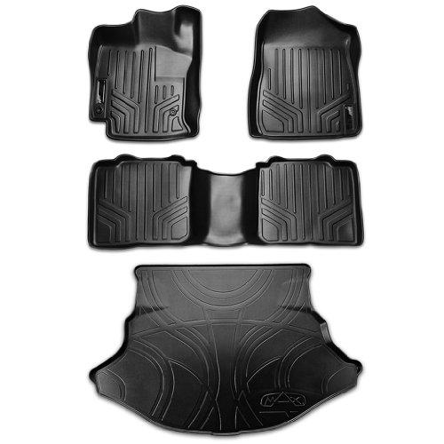 Tan Classic Carpet 3D MAXpider Complete Set Custom Fit Floor Mat for Select Toyota Venza Models