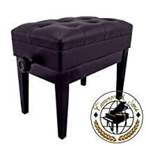 CS-12 EBHP Deluxe Adjustable Piano Bench (Polished Black)