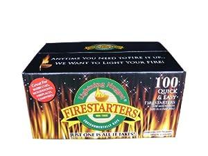 Lightning Nuggets N100SEB Firestarters Super Economy Box of Fire-Starting Nuggets, 100 Count Lightning Nuggets