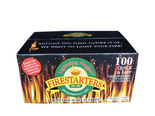 Lightning Nuggets N100SEB Firestarters Super Economy Box of Fire-Starting Nuggets, 100 Count image
