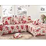 Imported 190-230cm 3Seats Sofa Couch Protector Elastic Slipcover Flower Pattern#03