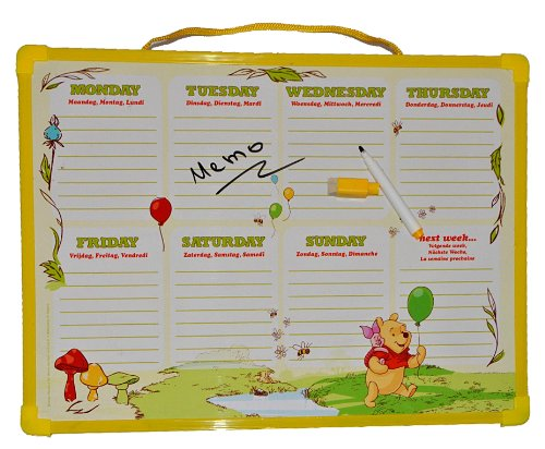 memoboard wochenplaner stundenplan winnie the pooh abwischbar mit folienstift magnetisch. Black Bedroom Furniture Sets. Home Design Ideas