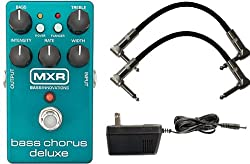 MXR M83 Bass Chorus Deluxe Pedal w/ 9V Power Supply and Patch Cables by MXR