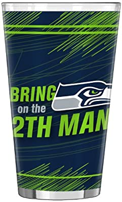 "NFL Seattle Seahawks ""BRING ON THE 12"" 16-Ounce Sublimated Pint Glass"