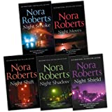 Nora Roberts Night Tales Collection 5 Books Collection Pack Set (Night Moves, Night Shift, Night Shadow, Night Shield, Night Smoke)by Nora Roberts
