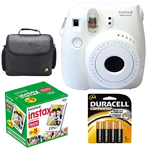 Buy Fujifilm Instax Mini 8 Instant Film Camera (White) With Fujifilm Instax Mini 5 Pack Instant Film...