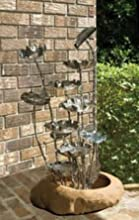 Midwest CBK EA1080 Metal Lotus Fountain - Metal And PolyResin