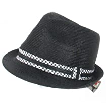 New PP Waterproof Stingy Brim Fedora Trilby Hat Black - Medium