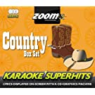 Zoom Karaoke CD+G - Country Superhits - Triple CD+G Karaoke Pack
