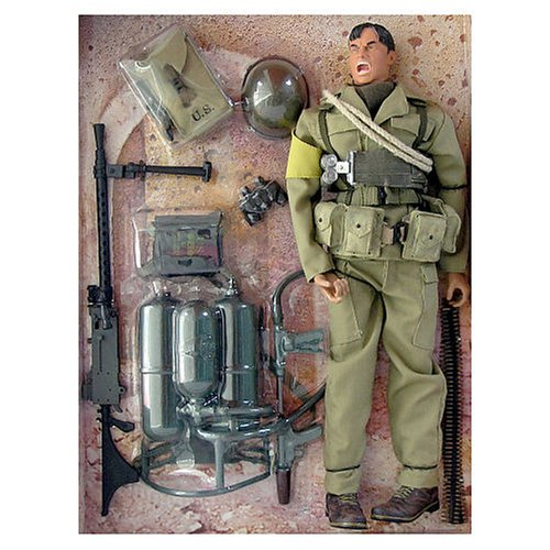 Buy Low Price Blue Box Elite Force WWII U.S. 4th Division-. 30 Machine Gunner Figure (B000OHHPG6)