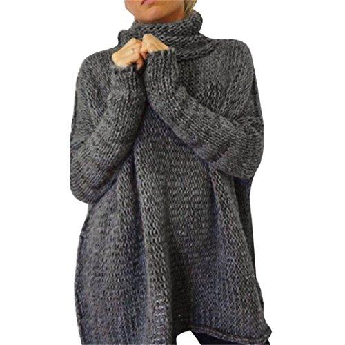 toopoot-women-winter-long-sleeve-oversize-sweater-tops-blouse-m-dark-grey