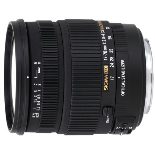 Sigma 17-70 mm f2.8-4 DC Macro OS HSM optical stabilisation lens for Sony Digital SLR cameras