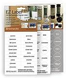 100 Round EZ Spice Labels - with White Prin Round EZ Spice Labels - with White Print 100