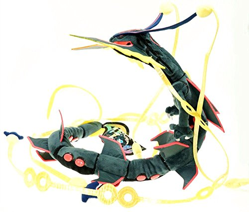 [Plush Doll Shiny Black Mega Rayquaza Stuffed Toy 34 Inches] (Froakie Costume)
