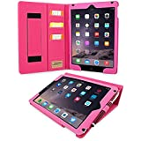 iPad Air (iPad 5) Case, Snugg™ - Executive Smart Cover With Card Slots & Lifetime Guarantee (Hot PInk Leather) for Apple iPad Air (2013)
