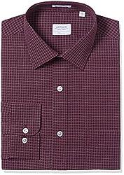 Arrow Men's Formal Shirt (8907378513038_ASSF0186_42_Burgundy)