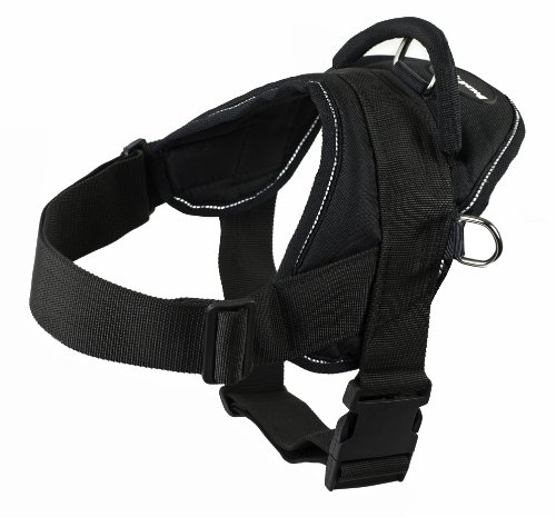 Dean and Tyler DT Dog Harness, Black With Reflective Trim, Medium - Fits Girth Size: 28-Inch to 34-Inch (Dean Tyler Harness Medium compare prices)