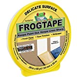 FrogTape 280220 Delicate Surface Painting Tape, Yellow, 0.94-Inch x 60-Yard Roll