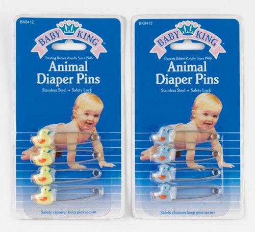 4 Pack Animal Duck Diaper Safety Pins - 1