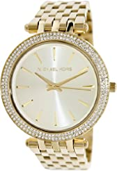 Michael Kors Women's MK3191 Gold Stainless-Steel Quartz Watch with Gold Dial