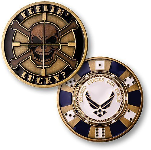 Feeling Lucky - Air Force Challenge Coin - 1