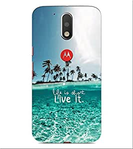 ifasho Designer Phone Back Case Cover Motorola Moto G4 Plus ( Sea Food Colorful Pattern Design )