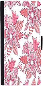 Snoogg Abstract Floral Backgrounddesigner Protective Flip Case Cover For Sams...
