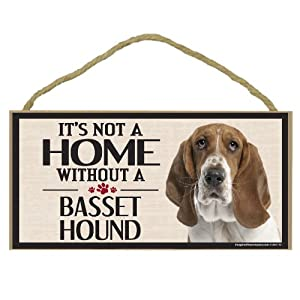 Imagine This Wood Sign for Bassett Hound Dog Breeds from Imagine This Company