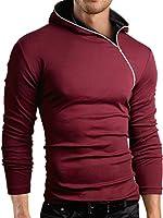 Grin&Bear Slim Fit sweat-shirt à capuche, fermeture éclair asymétrique, BH135