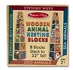 Melissa & Doug Wooden Animal Nesting...
