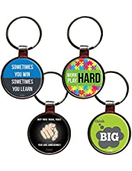 Combo For Inspiration Set Of 4 Quote Metal Key Chains By QuoteSutra