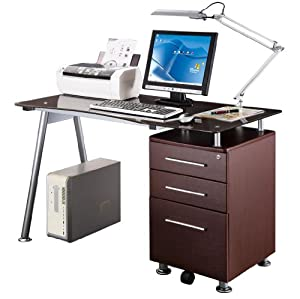 Amazon.com : RTA-1565 COMPUTER DESK WITH FILE DRAWER : Office Products
