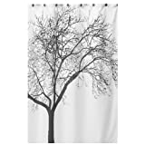 Waterproof Bathroom Fabric Shower Curtain, Tree Design