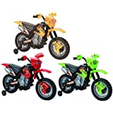 Charles Jacobs Kids RIDE ON CROSS Style Motorcycle Battery Powered Toy in GREEN
