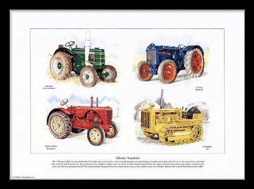 classique-tracteurs-imprimer-art-caterpillar-d2-massey-harris-pacemaker-fordson-modele-n-marshall-fi