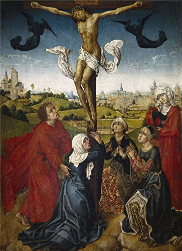 Oil Painting 'Maestro De La Leyenda De Santa Catalina La Crucifixion End Of 15 Century ' Printing On High Quality Polyster Canvas , 20 X 28 Inch / 51 X 70 Cm ,the Best Bar Gallery Art And Home Decoration And Gifts Is This Best Price Art Decorative Prints On Canvas